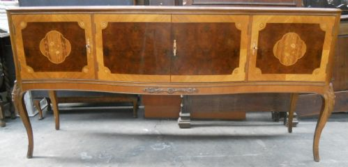 Mahogany Serpentine Serving Sideboard